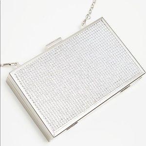 Silver Diamanté Box